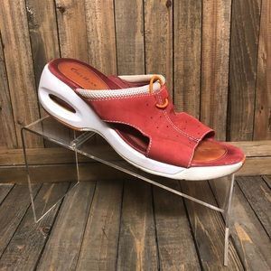 Cole Haan wedge soft  suede ocher orange sandals